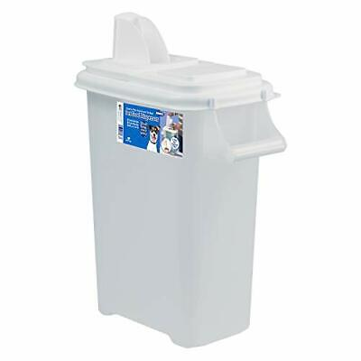 Buddeez 08301W 16-Quart Pouring Dispenser for Pet Food and Bird Seed, Large