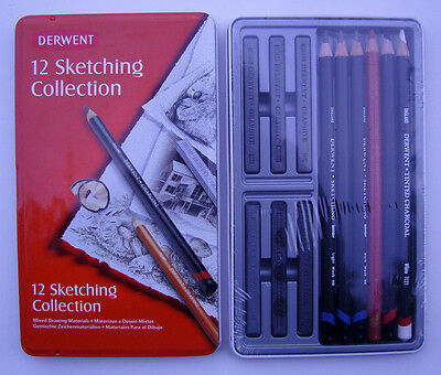DERWENT 12 SKETCHING COLLECTION  x 2 BOXES - 34305  - FREEPOST