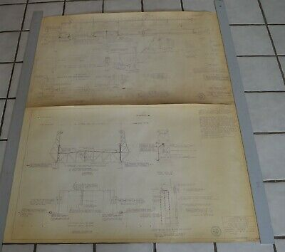 "6 1953 Engineering Blueprints Stillwater Lift Bridge St. Croix River 36""x24"""