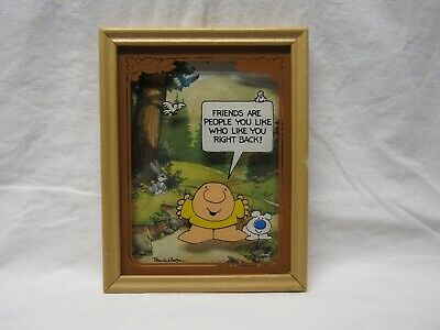 "ZIGGY 3-D PICTURE ""FRIENDS ARE PEOPLE YOU LIKE"" 1982  5X7"" LuLu's Inc."