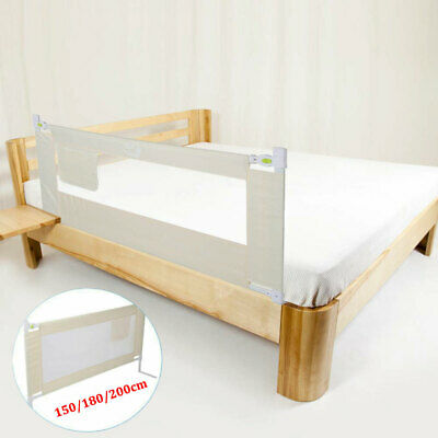 Adjustable Bed Rail Single Safety Guard For Baby Infant Side Mesh Barrier 3Sizes