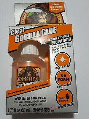 Gorilla  Clear Glue 1.75 Oz. No foam formula