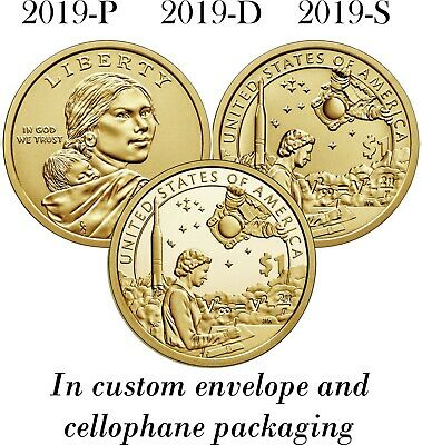 2019 Sacagawea Native American Dollar PDS P D S Unc from Rolls, Proof from Set
