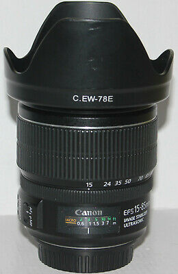 Canon EF-S 15-85mm f/3.5-5.6 IS USM in excellent condition