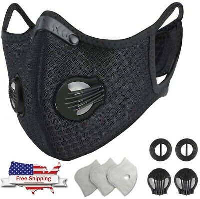 Washable nylon mesh face mask + 4 Activated Carbon filters (NEW & Comfortable)
