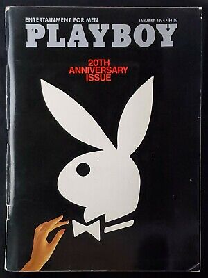 Playboy - 1974 January with Centerfold - GREAT condition magazine & Ads