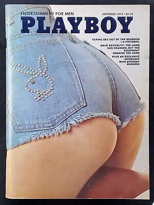 Playboy - 1974 September with Centerfold - GREAT condition magazine & Ads