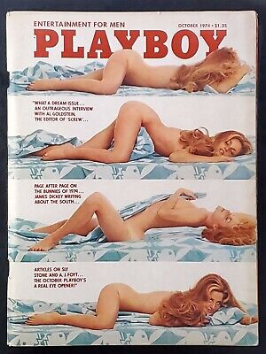 Playboy - 1974 October with Centerfold - GREAT condition magazine & Ads