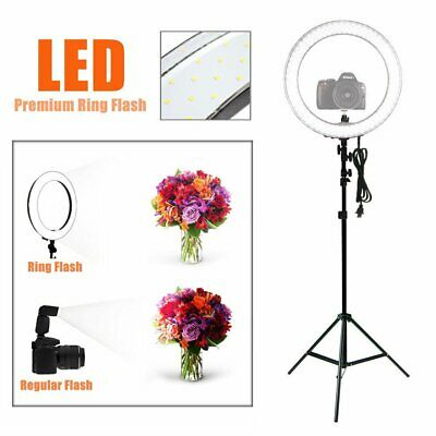 """19"""" ES240 5500K Dimmable Diva LED Ring Light w/ Diffuser Stand Make Up Studio"""