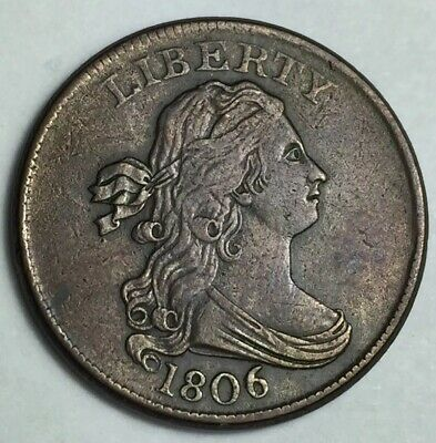 AWESOME 1806 Draped Bust Half Cent - CHECK IT OUT !!