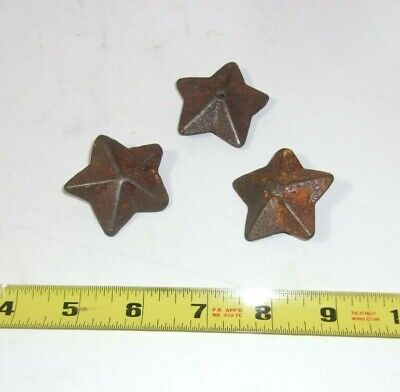 Antique Cast Iron Metal Star Shaped Weights