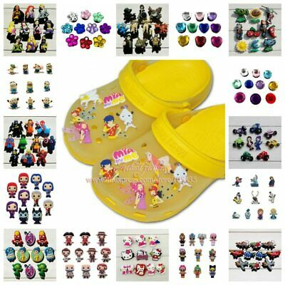 10-11pcs/lot Super Mario Sesame Street PVC Shoe Charms Accessories Fit for Shoes