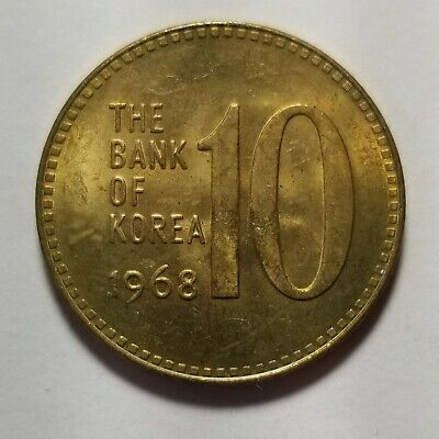 1968 South Korea 10 Won Gem BU Priced Right and Shipped FREE B59