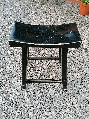 antique Milking Stool Vintage Rustic European Collectable