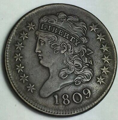 AWESOME 1809 Classic Head Half Cent - CHECK IT OUT !!
