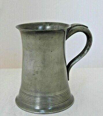 Victorian Scottish Pewter Pint Mug by Charles Lowe of Glasgow.