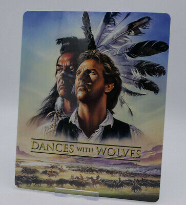 DANCES WITH WOLVES - Glossy Bluray Steelbook Magnet Cover (NOT LENTICULAR)