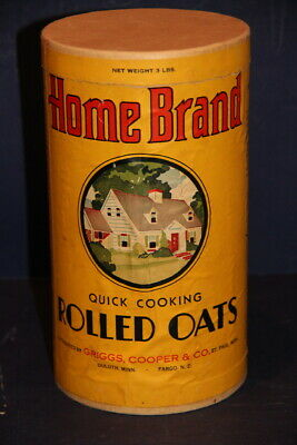 HOME BRAND ROLLED OATS - 3 Lbs  - Griggs - Cooper Co. - St. Paul, Duluth  MN