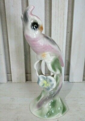 VINTAGE Cockatoo Parrot Bud Vase Clay Sketches Pasadena California Pottery