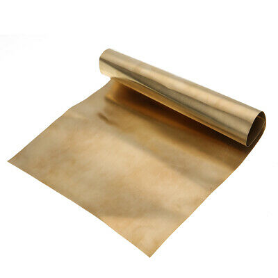 0.2mm*200mm*300mm Brass Metal Thin Sheet Foil Plate Shim For Metalworking New