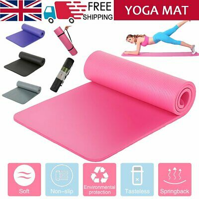 Yoga Mat Pilates Gym Exercise Carry Strap 15mm Thick Large Comfortable Molding