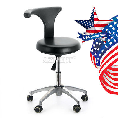 US Dentist Doctor Assistant Dental Stool Adjustable Height Mobile Rotation Chair