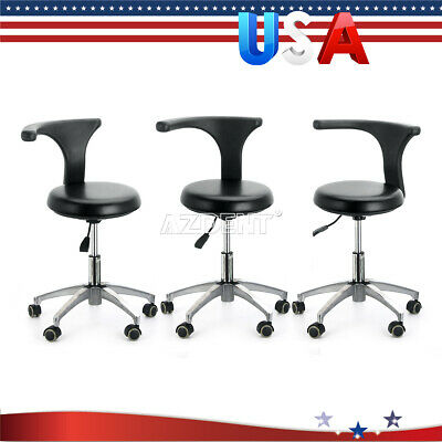 3x Dentist Doctor Assistant Dental Stool Adjustable Height Mobile Rotation Chair