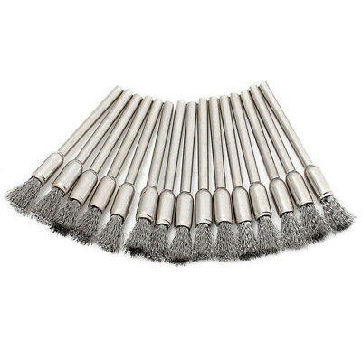 45Pcs Stainless Steel Wire Wheels Pen Brushes Set Accessories Dremel Rotary Tool