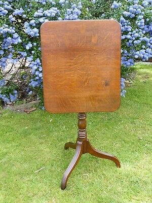 Country Oak Tilt Top Table 1780  Free Shipping Mainland England