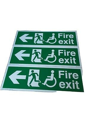 Three Fire Exit Signs - Never Used