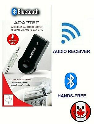 Wireless Bluetooth Adapter 3.5mm Aux Audio Receiver Stereo Car Mic Handsfree