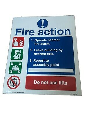 Fire Action Sign - Never Used