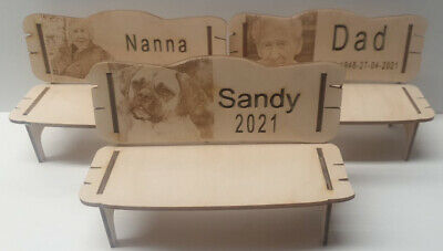 Large Personalised Remembrance Bench Wood Engraved