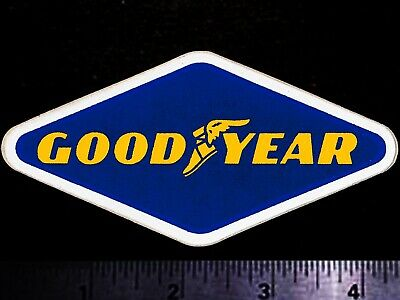 GOODYEAR Tires - Original Vintage 1960's 70's Racing Decal/Sticker