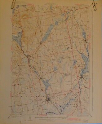 Pittsfield, Maine, Vintage USGS Topographic Map, 1932 edition, 1942 revision