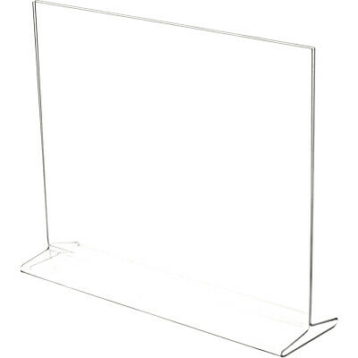 "Plymor Clear Acrylic Sign Display / Literature Holder (Top-Load), 14"" W x 11"" H"