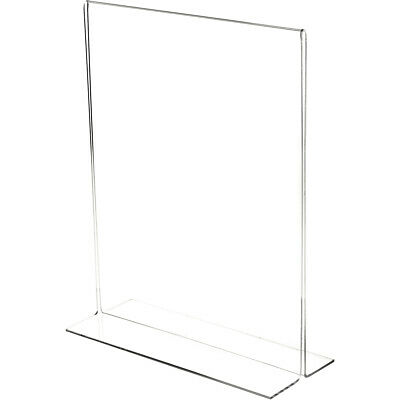 "Plymor Clear Acrylic Sign Display/Literature Holder (Bottom-Load), 11"" W x 14"" H"