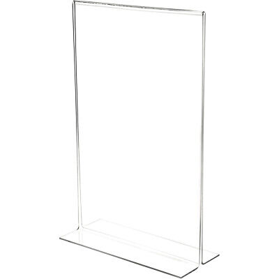 "Plymor Clear Acrylic Sign Display/Literature Holder (Bottom-Load), 11"" W x 17"" H"