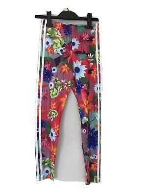 Girls Adidas Floral Leggins Age 11-12