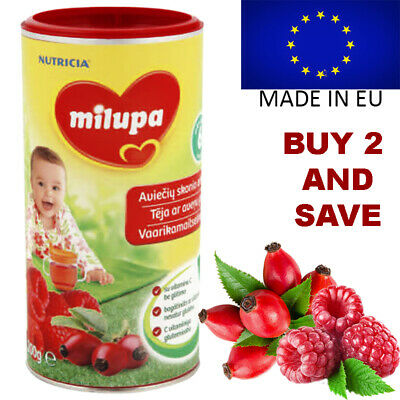 Milupa Baby Instant Tea Drink Fruits Rosehip Raspberry Toddler Vitamins