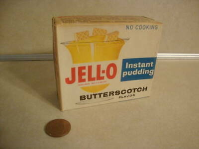 Vintage Unopened Box of Jello Butterscotch Instant Pudding Original Package Old!