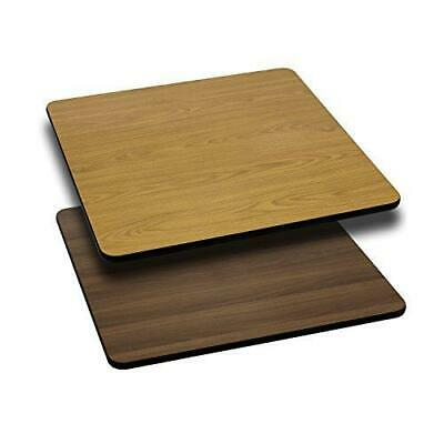 Flash Furniture 24'' Square Table Top with Natural or Walnut Reversible Laminate