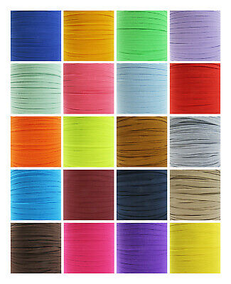 Coloured Flat Elastic Trimming Crafts Making Face Mask  Cord Quality Uk Post
