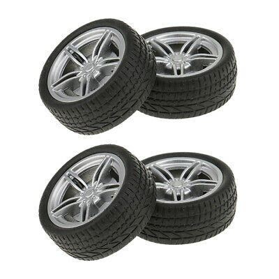 4Pcs Rubber DIY Car Wheel Tire Tyre Replacement Spare Accessories Supplies