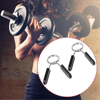 1 Pair Spring Clamp Spin Collar Clips For Weight Bar Dumbbells Home Gym Fitness