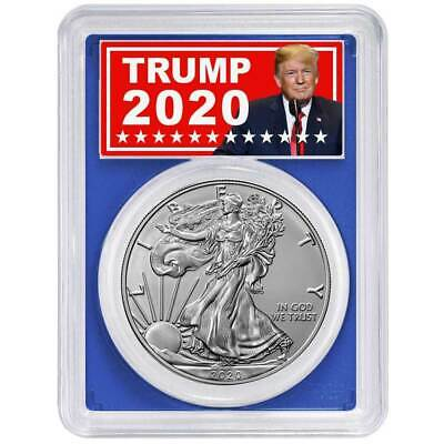 2020 (P) $1 American Silver Eagle PCGS MS69 Emergency Production FDOI Trump 2020