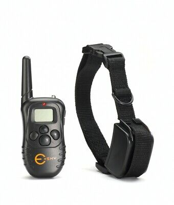 300 Yard Rechargeable 100LV Level Shock Vibra Remote LCD Pet Dog Training Collar