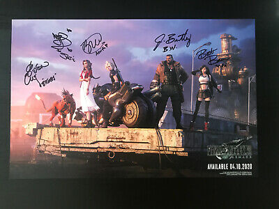 Final Fantasy VII REMAKE Poster PAX East 2020 Voice Actor Signing Exclusive RARE