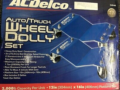 AC Delco Auto/Truck Wheel Dolly Set 34646 2,000lb ea