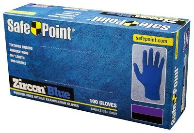 NITRILE Powder Free Exam rubber Gloves -100 Pcs - disposable  - Large Blue